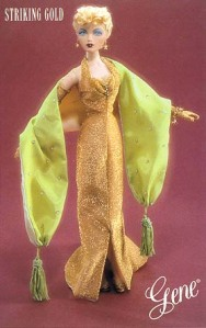 """Striking Gold Outfit Only NRFB for 16"""" Gene Marshall & Friends"""