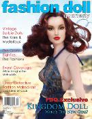 Kingdom Doll's Brighton on the cover of Fashion Doll Quarterly
