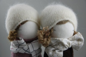 With this past winter's weather...snowballs make great dolls...