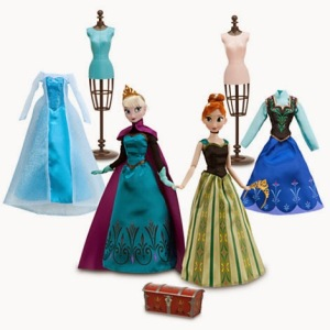 frozen deluxe fashion doll set